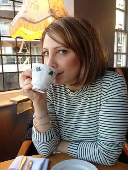Drinking tea, Maria - March 2013