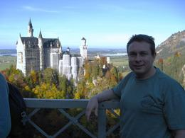 View of me on the bridge looking back at the Neuschwanstein Castle, Creagh W - October 2008