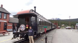 getting ready to board the train in Carcross , Michelle D - August 2017