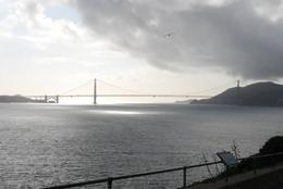 Nice view of Golden Gate Bridge from the island, Sam B! - April 2014