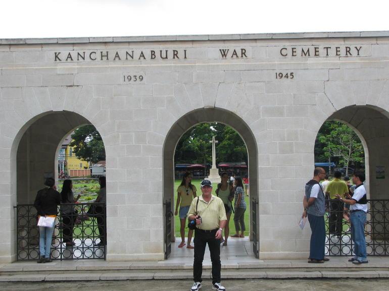 at the war cemetery - Bangkok