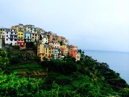 This is the view of Corniglia from the hike to Vernazza , Stephanie C - September 2014