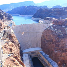 View of the Hoover Dam - as seen from the bridge that you are dropped at on the tour , Katy M - May 2012