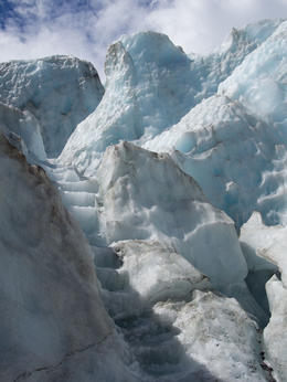 One of the stairs carved into the glacier , Martin N - January 2014