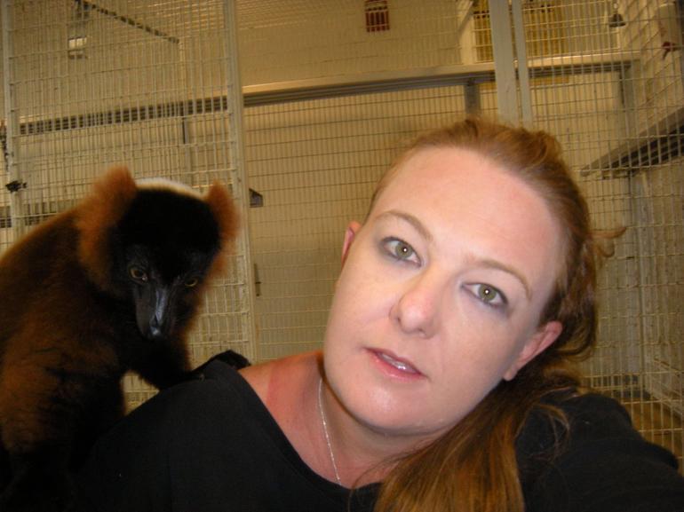 Lemur on my shoulder! - Miami