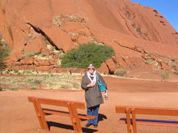 Mum and the base of Uuru , Sandra R - June 2011