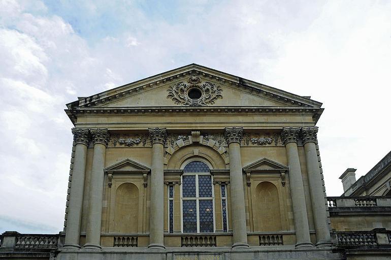 Roman Baths Georgian frontage - London