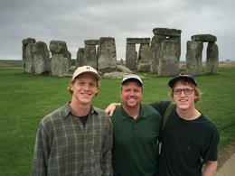 Barry, Garrett, and Cody Sullivan arriving at Stonehenge , Barry S - September 2016