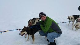 Me and a couple of our sled dogs. , John L - May 2016