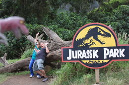 My wife and I at the Jurassic Park site. , Phil - December 2015