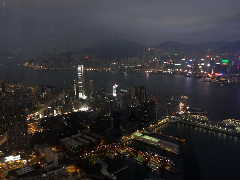 Victoria Harbour lights up - Hong Kong