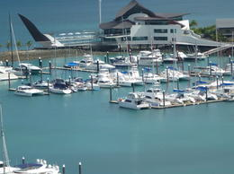 View of the harbor and Yacht club , saz - May 2012