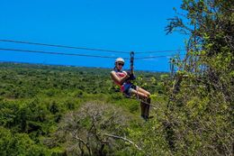 This is my daughter zip lining over the jungle, it gives you a good idea of what it looks like from the top! , Shauna - April 2016