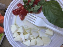 Fresh buffalo mozzarella, cherry tomatoes, basil and olive oil. So fresh! , manley125 - July 2017