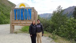 On the bus and entering Yukon , Michelle D - August 2017