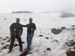 My brother and I at base of glacier area of Cotopaxi. , Clayton J - February 2018