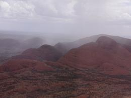 Rain falling on Kata Tjuta , Fred J - February 2018