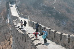 We are on top of the Great Wall! - May 2012