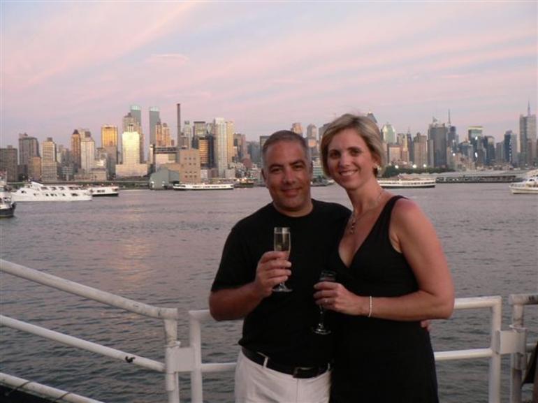 City skyline behind us - New York City