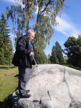Our guide Urban pointing something out , John D M - September 2015