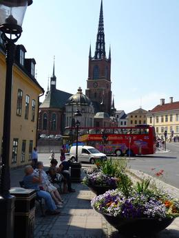 Part of the scene in Gamla Stan. Plenty of places to stop and relax! , Michael P - August 2014