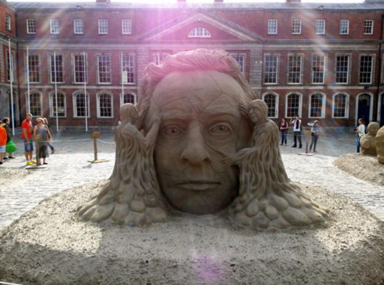 Sand sculpures at Dublin Castle - Dublin