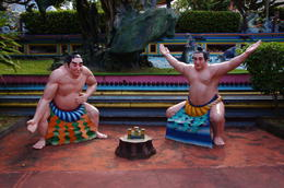 Sumo Statue in Haw Par Villa , Gregory - March 2011