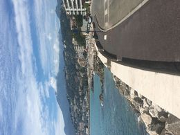 View of Menton from the drive into France. , Nicole A - July 2016