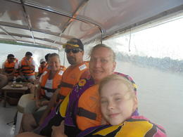 Our family in the speed boat on the way to the tunnels , vickindicky - August 2017