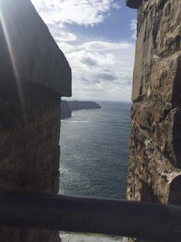 View of the cliffs from the top of the watchtower. , kate_tomchik - October 2017