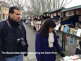 Browsing the book sellers in the River Seine. , 2nd one - January 2014