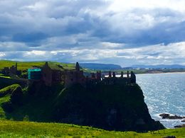 A beautiful view of a castle as we left Giant's Causeway , Jennifer C - August 2016
