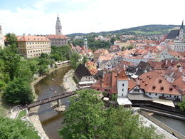 View of the town from the bridge. , Ceej - July 2014