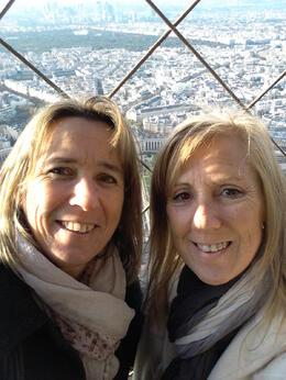 At the top of the Eiffel Tower after our tour with Martin. , Astrid B - October 2013