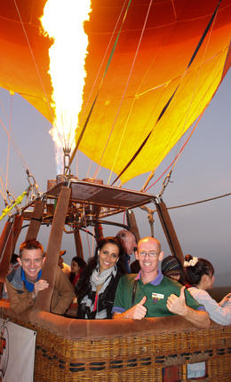 Hot Air Ballooning, Asha & Brock - July 2013