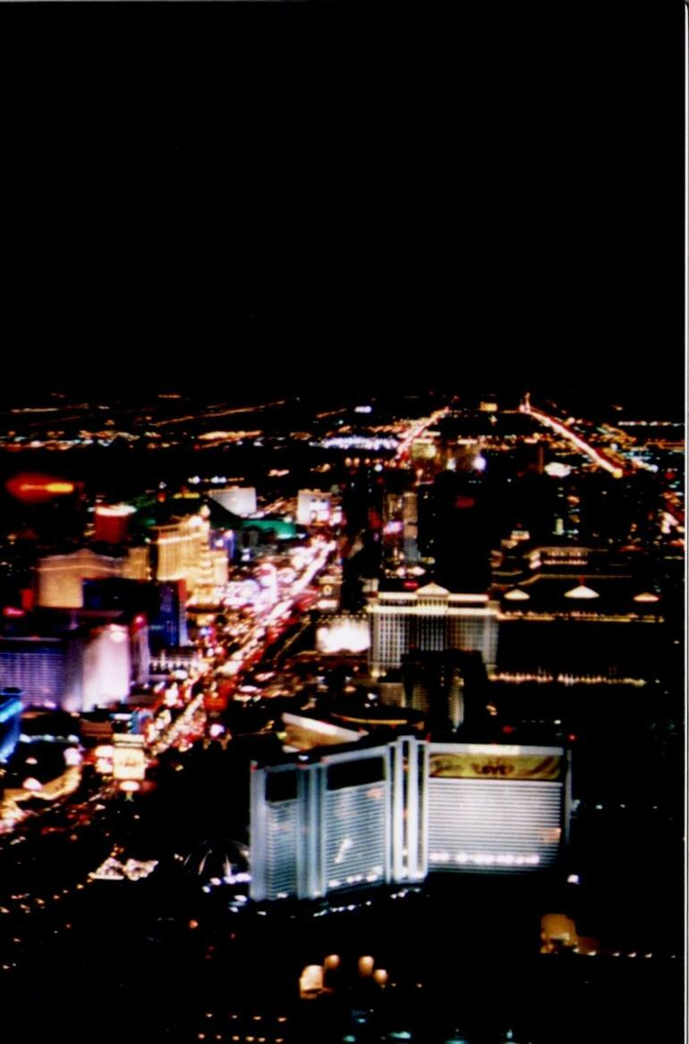 Las Vegas Strip as seen from helicopter - Las Vegas