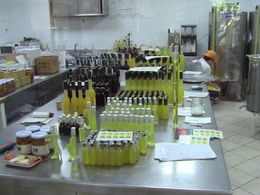 Picture of the limoncello as it is being produced in the Giardini di Cataldo. , matthewtotaro - June 2016