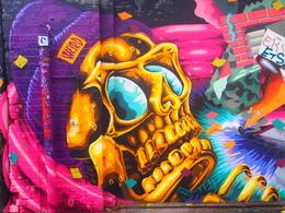 Brilliant street art in an abandoned train yard in Kreuzberg, Rachel - November 2013
