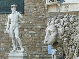 Statue of David and Lion, Philippa Burne - July 2011
