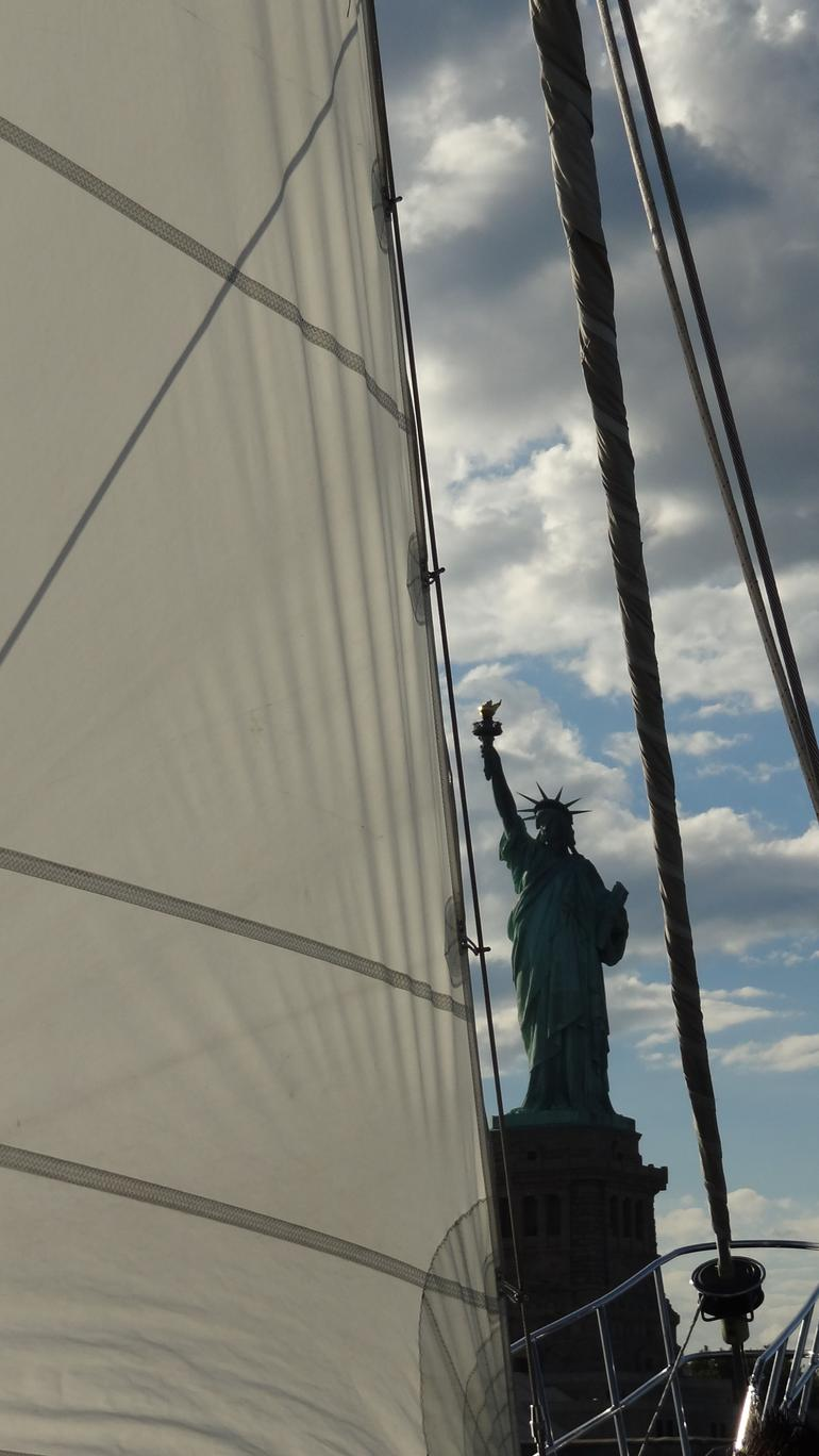 Statue of Liberty from boat - New York City