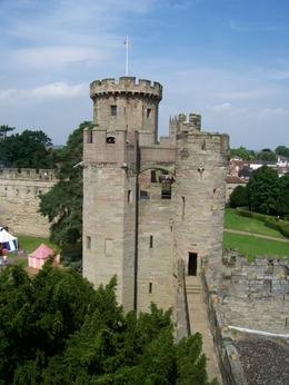 View from the top of one of the towers of Warwick Castle. - August 2008