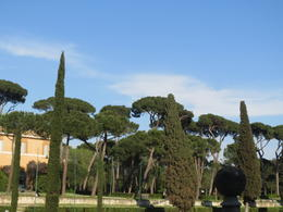 Walking during the tour of the Borghese Gardens , Karen G - May 2013