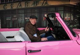 Me in a very pink car! , alan g - January 2016