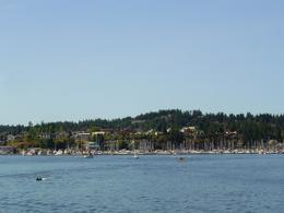 Arriving in Friday Harbor on the ferry from Anacortes , Leah - May 2011