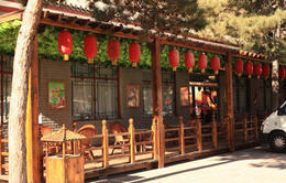 Restaurant with the quaint red lamps - September 2012
