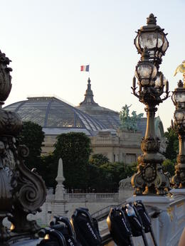 Parked on the Alexander III bridge, with a great view of Grand Palais , dizzledorf - August 2012