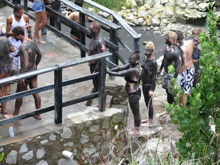 mud bath at Sulphur springs - St Lucia