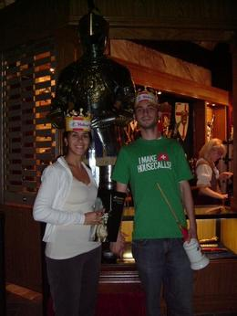 Here is picture of us after the show. I had a little book for memories and my boyfriend had a mug with a flag... when cheering for our Knight he would wave the flag around and it was fun because we... - September 2008