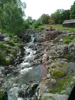 waterfall and stone bridge , Alan S - June 2012