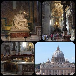 En stor kyrka med massor av vackra statyer. Vi besökte givetvis Sveriges drottning Kristina som ligger begravd i Peterskyrkan. Kom ihåg att man inte får visa bara knän och axlar..., Maria NÖ - September 2015